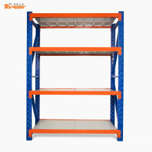 Medium duty boltless bulk storage industrial plate rack
