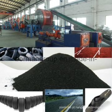 Linha de reciclagem de pneus 500-1000kg / H