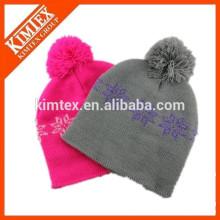 Wholesale custom jacquard pom hip hop beanie hat