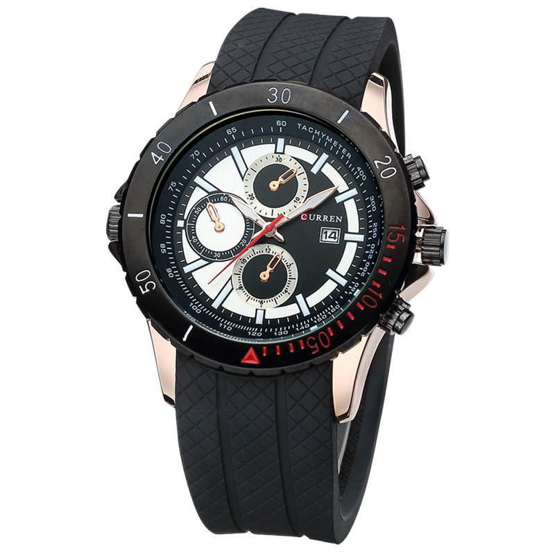 Focus CURREN Silicon Band Quartz Watch Men