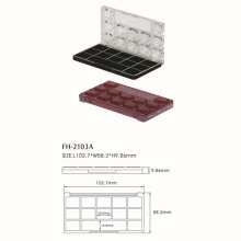 Transparent Rectangle Cosmetic Eyeshadow Case