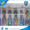 2015 alta tecnología anti falsificación con texto en miniatura autenticidad QRcode holograma pegatina