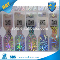 2015 haute technologie anti-faux avec authenticité du texte miniature QRcode autocollant d'hologramme