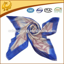 2015 digital printed wool material custom made scarf