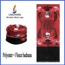 LINGSHANG skull bandana head bandana polar fleece multifunctional bandana