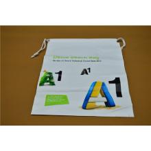 Sac d'emballage en plastique à cordon imprimé personnalisé (hdpl-5)