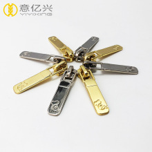 custom design sliver slider gold metal zipper puller