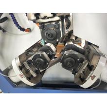 Gewinderollmaschine aus Stahlrohren mit drei Wellen