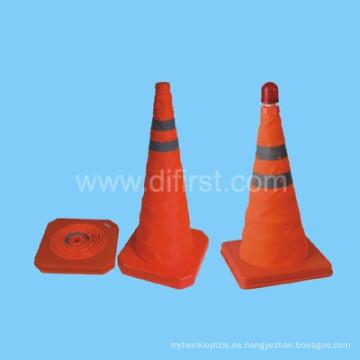 Cono de tráfico de seguridad vial naranja fluorescente Hi- Vis