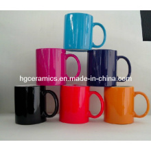 11oz Mug with Color Coating. Color Coating Ceramic Mug