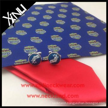 Shengzhou Manufacturer High Quality 100% Silk Woven Tie with Logo