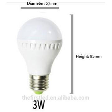 Haute luminosité 3W / 5W E27 B22 2835SMD Blanc froid / blanc chaud Lampe à LED