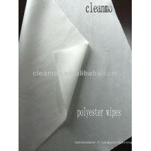 Lingettes de salle blanche en polyester de 9 po
