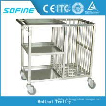 SF-HJ4020 Krankenhaus verwenden Edelstahl Servierwagen