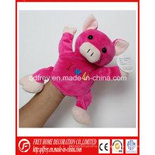 Juguete lindo marioneta de mano linda de cerdo de peluche