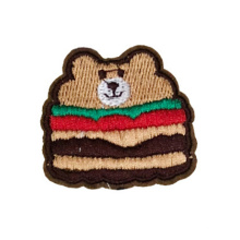Wholesale Custom Animal Embroidered Logo Sequin Embroidery Badges 3d Bear Embroidery Patches For Garment