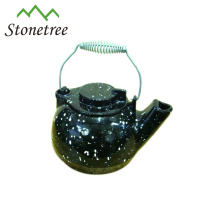 Hot Sale Large Black Coated Cast Iron Enamel Tea Kettle