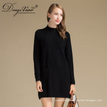 Custome Knitted Pullover Korean Fashion Girl Style Merino Wool Sweater With Good Price