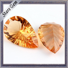 Pearlescent Gold Yellow Millennium Cutting CZ Gemstone Beads