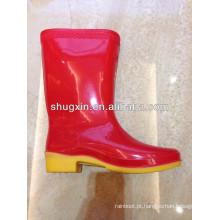 botas chuva barato inverno quente durável feminino pvc