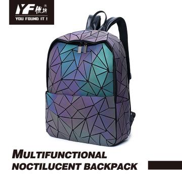 Luminous geometric PU laptop&school Backpack