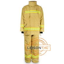 Terno com tecido padrão EN flama-retardador e impermeável de combate a incêndio