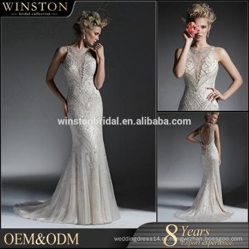 Свадебные платья Новый 2016 с длинным рукавом a-line кружева свадебное платье