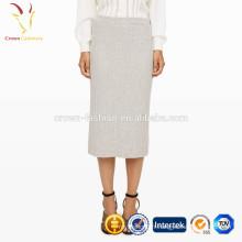 Dernière longue jupe de conception de dames Crochet longue jupe