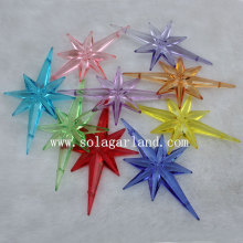 Sparking Acrylic Star Stub Bead Pendants for Christmas Tree Décor