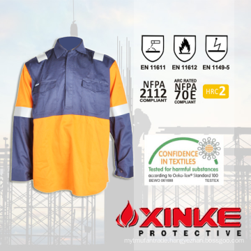 HRC 2 Fire Resistant FR Shirt with ARC Flash Protection