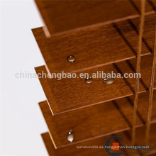 Piezas impermeables de persiana enrollable de madera de tilo