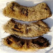 Manteaux en cuir avec col et poignets en fourrure