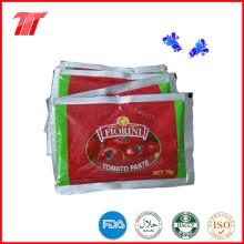 Pasta de tomate de saquinho 70g de fábrica de pasta de tomate chinês