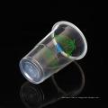 O costume 200ml imprimiu copos plásticos claros descartáveis da água dos PP