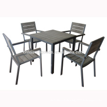 Plastic wooden garden furniture dinning set