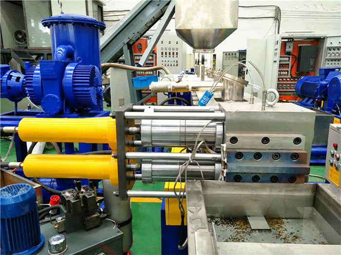 PET regrind flakes granulating machine