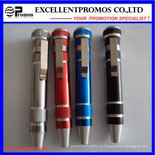 Stylo à outils multiples à main de poche en aluminium (EP-TS8123)