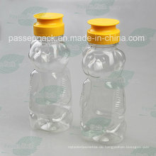 480g Haustier-Plastikbär-Honig-Flasche mit Silikon-Ventil-Kappe (PPC-PHB-17)