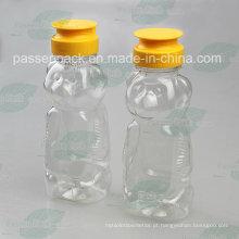 480g pet garrafa de plástico de mel de urso com tampa de válvula de silicone (PPC-PHB-17)