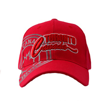 Red Acrylic Baseball Cap with Big Embroidery Logo (GKA01-F00063)