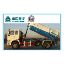 Caminhão Zz1167m4611W da sucção da água de esgoto de 266HP Sinotruk HOWO 4X2