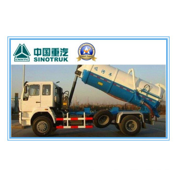 266HP Sinotruk HOWO 4X2 camión de succión de aguas residuales Zz1167m4611W