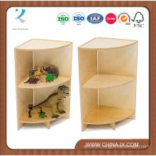 Kids Outside Corner Storage Unit with Curved Shelves