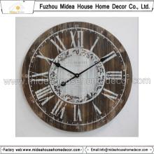 Decoración del hogar del reloj de madera de la personalización