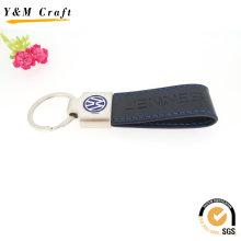 Kundenspezifisches schwarzes PU-Leder-Auto Keychain mit BMW prägeartigem Logo