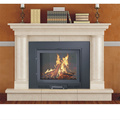 Indoor 14kw cast iron wood burning fireplace modern insert fire place