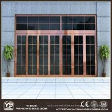 Coppman Puerta de cobre comercial de alta calidad con vidrio