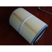 Cartouche filtrante étanche et anti-huile en polyester