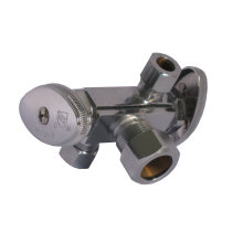 Hot Sale Passed Cupc & NSF Compression Connection Dual Handle Stop Valve (J81)