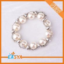 Silver Rhinestone Pearl Bracelet Costume Jewelry